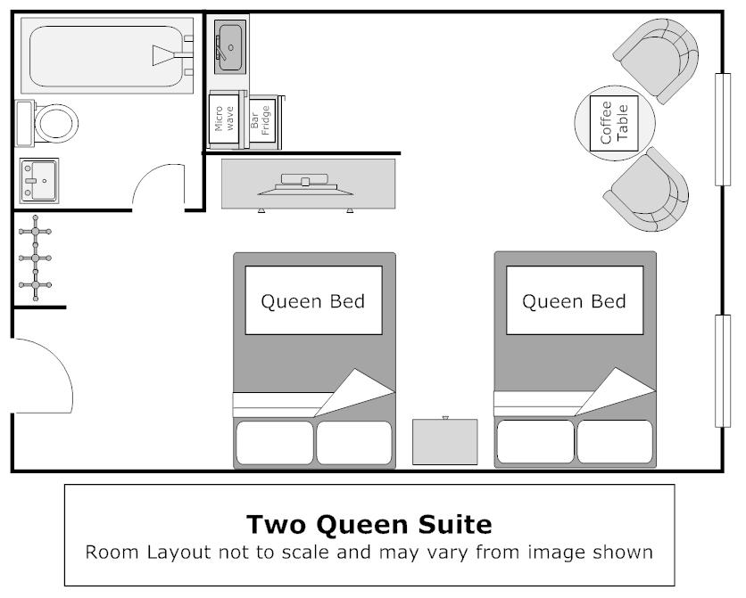 Floor Plan, Superior 2 Queen Room